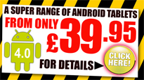 Android Tablets From £39.95