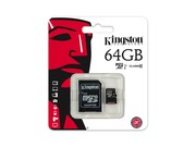 Kingston Canvas Select 64GB MicroSD UHS-I Class 10 memory card
