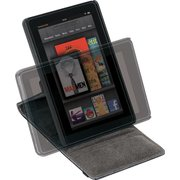 Targus Black Faux Leather Versavu Rotating Stand & Case For The Kindle Fire