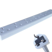 ComputerGear 5M UK Male Mains PDU 6 Gang UK Socket Extension