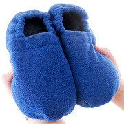Heat-Slippers Microwavable relaxing foot warming slippers Size UK 3.5-7 - Blue