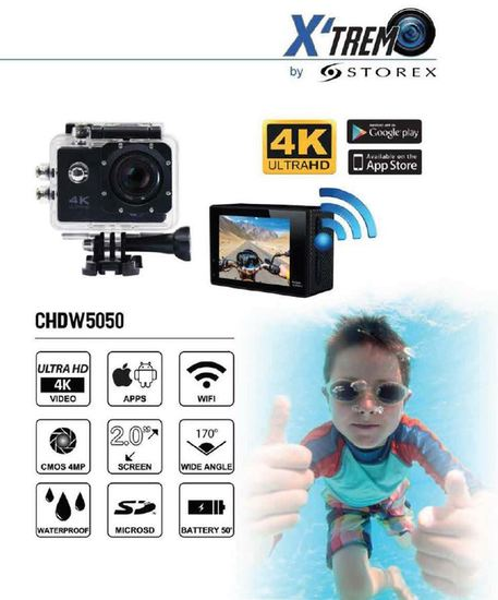 Buy Storex X'Trem CUHDW5050 4K Ultra HD Sports Camera Action