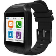ZeTel Touch Screen Smart Watch for iPhone & Android - Black