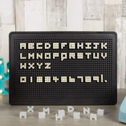 Object DIY LED Light Up Message Board with Individual Letters & Numbers